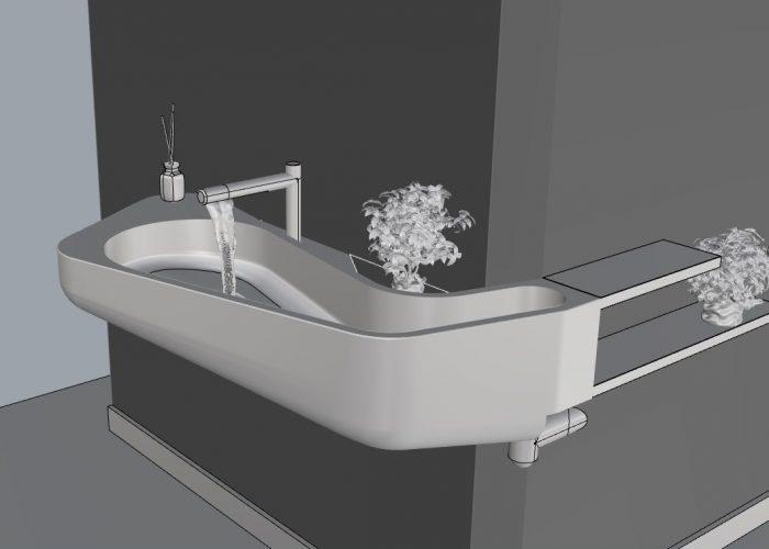 Sink model 3d